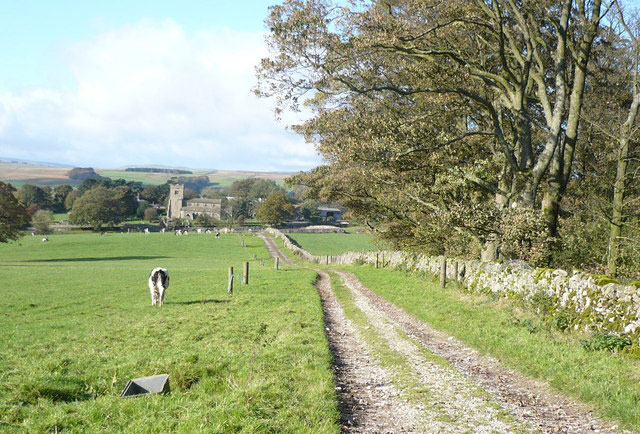 Bridleway to Rylstone Church