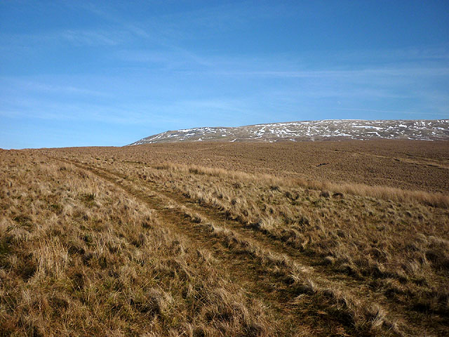 Kingsdale, snow-streaked slopes of Whernside