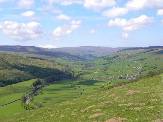The view up Swaledale